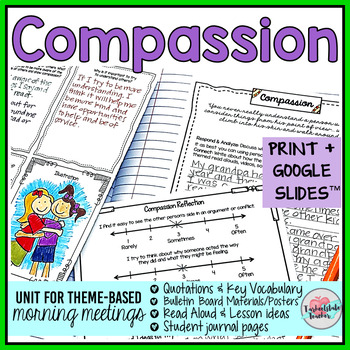 Compassion Activities | Compassion Morning Meeting Theme in Literature