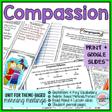 Morning Meeting Activities for Compassion - Theme in Literature