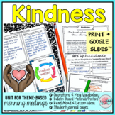Morning Meeting Activities for Kindness - Theme in Literature
