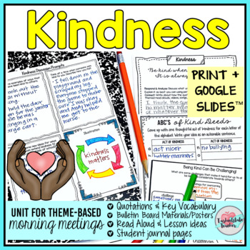 Kindness Activities | Kindness Morning Meeting Theme in Literature