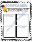 Compassion Worksheet Printable