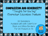 "Compassion and Generosity ""Thought for the Day"" Character Education Posters"