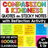 Compassion and Kindness Quotes on Sticky Notes