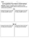 Compatible Numbers Estimation Student Worksheet