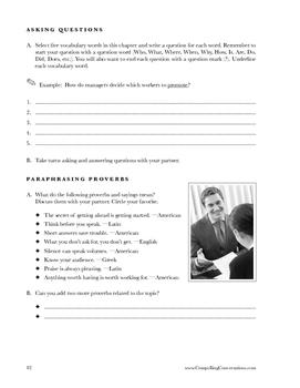 Compelling American Conversations Chapter 12: Practicing Interviews