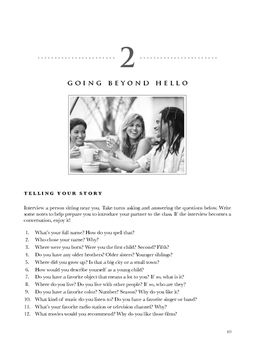 Compelling American Conversations Chapter 2: Going Beyond Hello