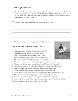 Compelling American Conversations Chapter 7: Playing and Watching Sports
