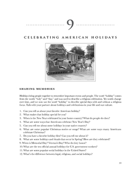 Compelling American Conversations Chapter 9: Celebrating American Holidays