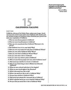 Compelling Conversations Chapter 15: California Calling