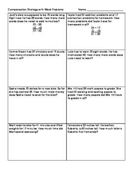 Compensation Strategy with Word Problems