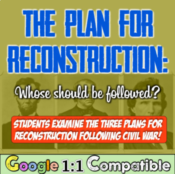 Reconstruction and its Competing Plans: Whose Should Be Followed?