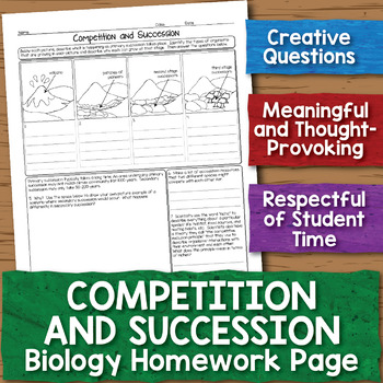 Competition and Succession Biology Homework Worksheet