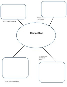 Competition themed book concept pre reading map