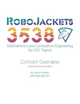 2016 2017 Edition Competitive Robotics Lesson Outline For First Frc
