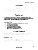 Competitive Robotics Team Job Descriptions