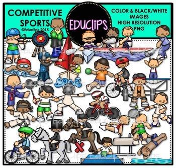 Competitive Sports Clip Art Bundle {Educlips Clipart}