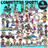 Competitive Sports Clip Art Bundle {Educlips Clipart}