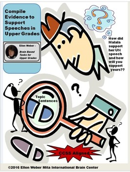 Compile Evidence to Support Rhetorical Speech - CCSS Aligned