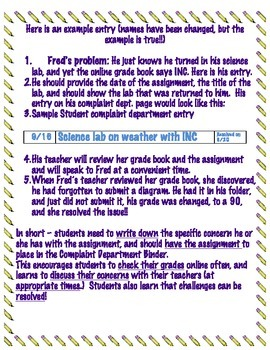 Complaint Department - Managing Student Grade questions