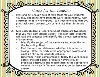 Complement Task Cards