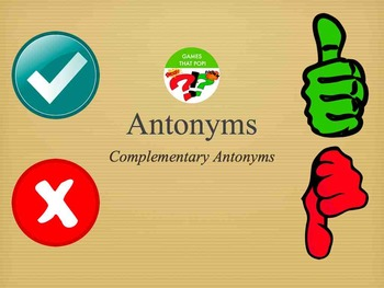 Complementary Antonyms Recognition - Study of Opposites - Keynote Mac Game