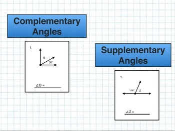 Complementary Angles & Supplementary Angles