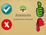 Complementary Antonyms Game - Balanced Literacy Opposites Sub ESL