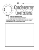 Complementary Color Scheme Worksheet for Colored Pencils f