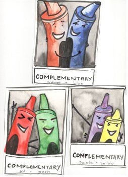 Complementary Crayon Posters Set 1