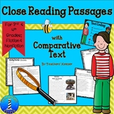 Close Reading Practice with Fiction/Nonfiction Connected Texts