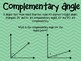 Complementary, Supplementary, Adjacent, and Vertical Mini
