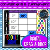 Complementary & Supplementary Angles Digital Drag & Drop;
