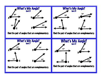 Complementary supplementary angles pdf