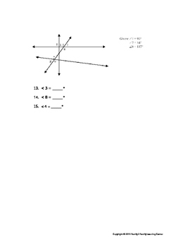 Complementary & Supplementary Angles Worksheet