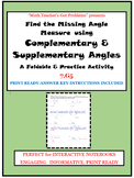 Complementary & Supplementary: Find the Missing Angle