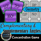 Complementary Supplementary Concentration Game; Geometry,
