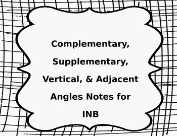 FREEBIE Complementary, Supplementary, Vertical, & Adjacent