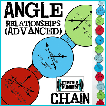 Complementary, Supplementary, Vertical Angles Paper Chain Advanced