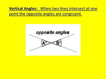 Complementary, Supplementary, and Vertical Angles