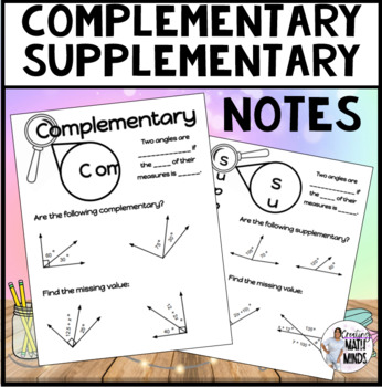 Complementary/Supplementary notes