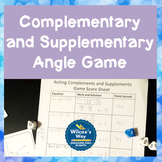 Complementary and Supplementary Angle Equations Activity Game