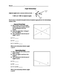 Complementary and Supplementary Angle Worksheet