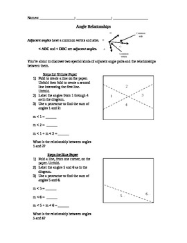 Complementary and Supplementary Angle Worksheet Complementary and Supplementary Angle Worksheet