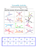 Versatile Complementary and Supplementary Angles