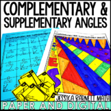 Complementary and Supplementary Angles Activity Pack