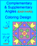 Complementary and Supplementary Angles C (EASY/HARD)  - Coloring Activity