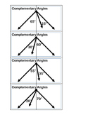 Complementary and Supplementary Angles Cards