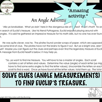Complementary and Supplementary Angles Digital Treasure Hunt Activity