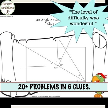 Complementary and Supplementary Angles Digital Treasure Hunt