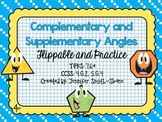 Complementary and Supplementary Angles Flippable (Foldable) and Practice